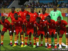 Ghana's team at the Under-20 World Cup