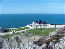North Stack, the former fog signal station now home to Philippa's studio