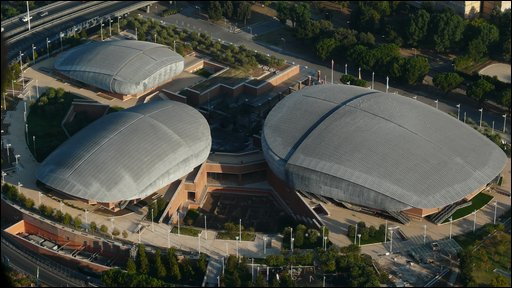 An aerial view of the Auditorium Parco Della Musica