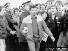 Bilston Glen clashes. Photo courtesy of The Daily Record