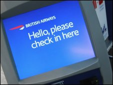 BA check-in desk