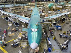 Boeing 747-8 Freighter being assembled
