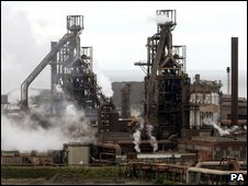 The Corus steelworks in Port Talbot