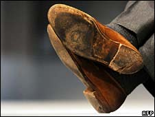 Ken Clarke's worn shoes