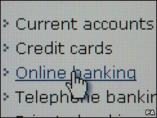 Online banking screenshot (PA)