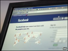 Facebook login page (AP)