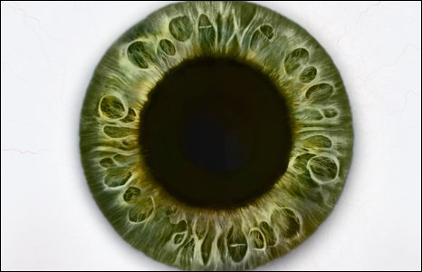 Campaign poster showing the eye how it can look after taking cocaine