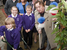 Ken Dodd planting his tree