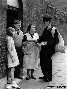 Postman in north London, 1938