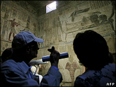 Archaeologists in tomb near Luxor (file pic)