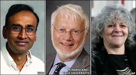 Venkatraman Ramakrishnan, Thomas Steitz and Ada Yonath