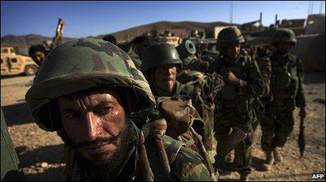 Afghan soldiers in Farah province (6/10/2009)