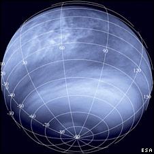 "Ultraviolet ""map"" of Venusian atmosphere"