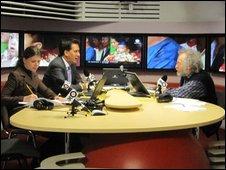 Ed Miliband on Moscow radio station