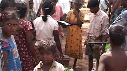 Displaced Tamils at Sri Lanka refugee camp