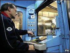 Tube train driver