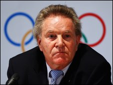IOC's Denis Oswald addressing the media in London