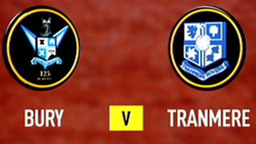 Bury 2-1 Tranmere