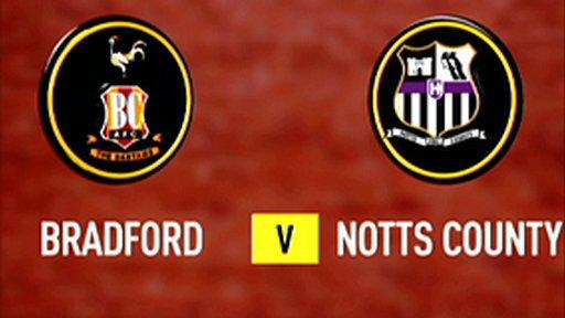 Bradford 2-2 Notts County (3-2 pens)