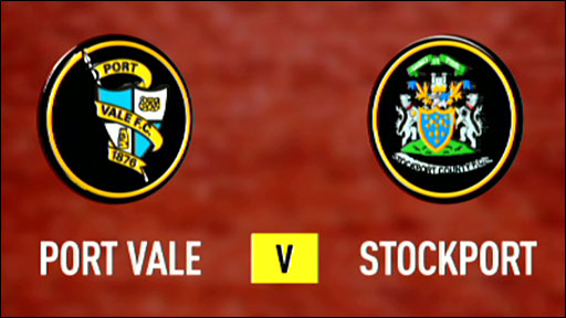 Port Vale v Stockport