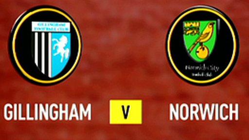 Gillingham 0-1 Norwich
