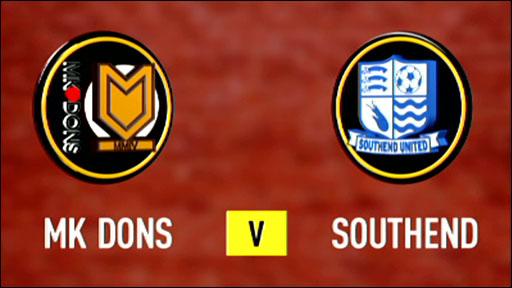 MK Dons 2-0 Southend