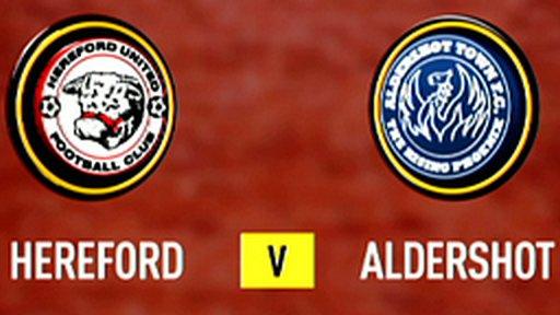 Hereford 2-2 Aldershot (4-3 penalties)