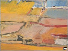 A section of Richard Diebenkorn's Berkeley No.55