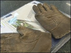 Gloves owned by Sir Winston Churchill