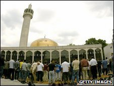 Prayers at London's Central Mosque