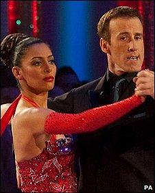 Laila Rouass and Anton Du Beke dancing