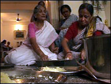 Making sweets for the whole community is part of celebrations.