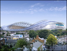An artist's impression of what the Aviva Stadium will look like