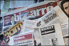 Newspaper diary columns