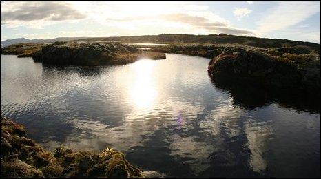 Iceland skyline