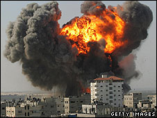 Air strike on Gaza Strip, 13.01.09