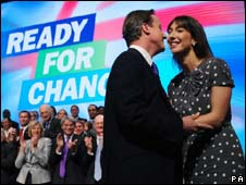 David and Samantha Cameron after his conference speech