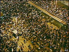 Protests in Leipzig on 09/10/89