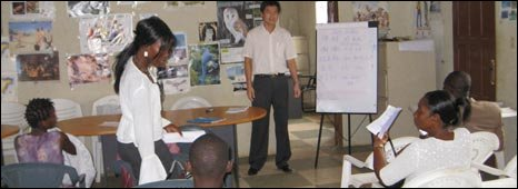 Liberians learning Chinese