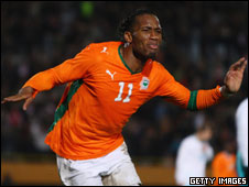 Chelsea and Ivory Coast's Didier Drogba