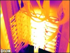 Thermal image of a computer