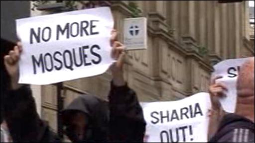 Protestors in Birmingham