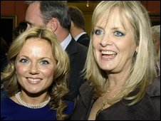 Singer Geri Halliwell and model Twiggy