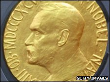 The gold medal awarded to Nobel Peace Prize winners