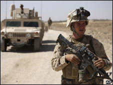 US Marine in Afghanistan