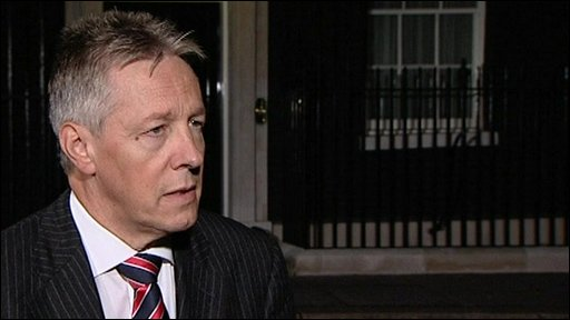 The DUP's Peter Robinson
