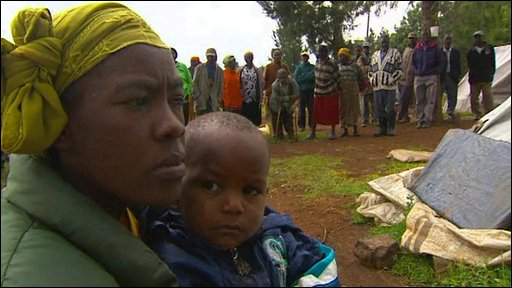 Woman and baby in Eldoret camp