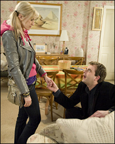 Characters Becky Granger and Steve McDonald