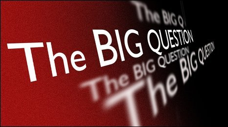 The Big Question graphic