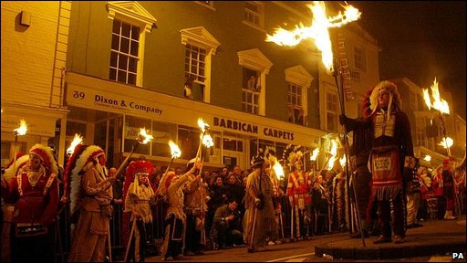 Bonfire night procession in Lewes